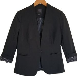 The Limited Black Blazer w/ Polka Dot